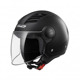 LS2 OF562 AIRFLOW L CASCO JET NERO OPACO