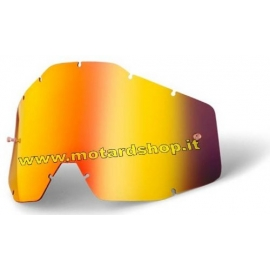 100% RACECRAFT/ACCURI/STRATA LENTE RICAMBIO SPECCHIATA ORO