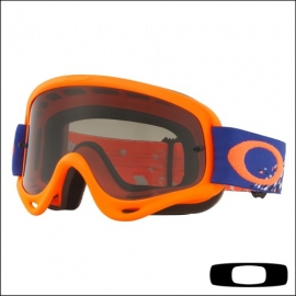 OAKLEY O Frame Checked Finish Blu Arancio maschera Motocross Enduro Mtb