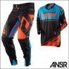 Completo Motocross Answer Racing Trinity Blu Nero Enduro Quad