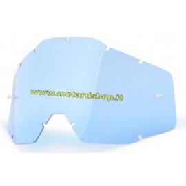 100% RACECRAFT/ACCURI/STRATA LENTE RICAMBIO BLUE