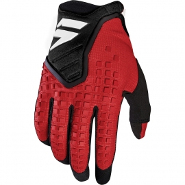 SHIFT 3LACK LABEL Pro Nero Rosso guanto motocross enduro quad