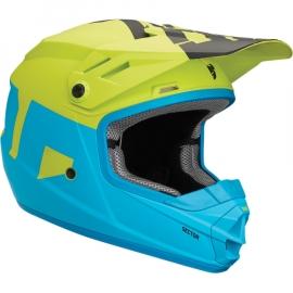 Thor Sector Blu Elettrico Lime Casco Minicross Bimbo Ragazzo