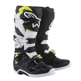 ALPINESTARS TECH 7 Nero Bianco Stivale Motocross Enduro Quad