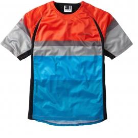 Maglietta Manica Corta Mountain Bike Enduro Madison Alpine Rosso Azzurro