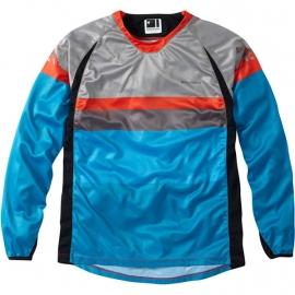 Maglietta Manica Lunga Mountain Bike Enduro Madison Alpine Azzurro Grigio