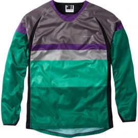 Maglia Manica Lunga Mountain Bike Enduro Madison Alpine Grigio Verde