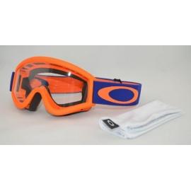 Maschera Motocross Oakley L Frame Arancio Blu OTG ENDURO MTB DH