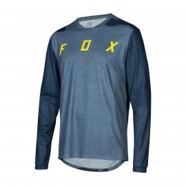 Maglia manica lunga  MTB FOX Indicator LS MASH camo  BLU Enduro Downhill
