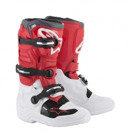 ALPINESTARS TECH  7 S WHITE/RED/GRAY STIVALE CROSS BIMBO