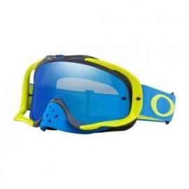 Oakley Crowbar MX blu verde Lente blu Iridium e chiara maschera Motocross Enduro Mtb