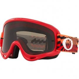Maschera Motocross OAKLEY O Frame Rosso Arancione Enduro Mtb Dh