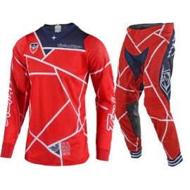 Completo Motocross TLD Troy Lee Designs SE AIR METRIC red navy  Enduro Quad