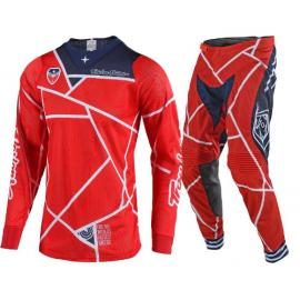Completo Motocross TLD Troy Lee Designs SE AIR METRIC 2019 red navy  Enduro Quad