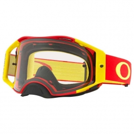 Oakley Airbrake MX red yellow lente chiara maschera Motocross Enduro Mtb