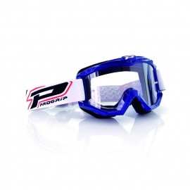 Maschera PROGRIP 3201 atzaky blu lente chiara motocross enduro mtb
