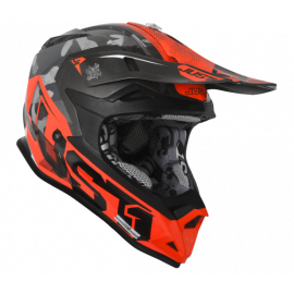 Casco Motocross Just1 J32 Bambino Swat Camo Fluo Orange Gloss Enduro Quad