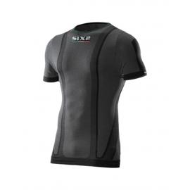 SIX2 MAGLIETTA  Carbon Underwear nera carbon