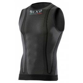 SIX2 smanicato  Carbon Underwear nera carbon
