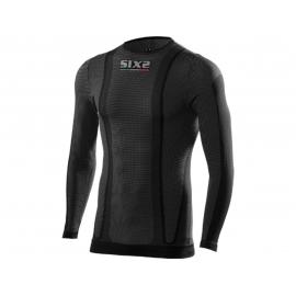 SIX2 MAGLIA MANICA LUNGA  Carbon Underwear nera carbon