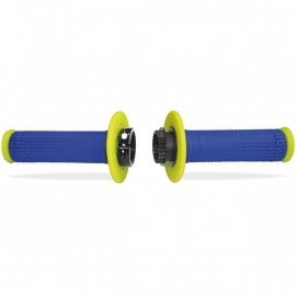 PROGRIP MANOPOLA 708 LOCK ON grip doppia densità giallo fluo blu elettrico motocross enduro quad