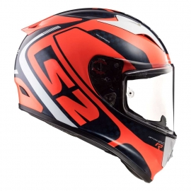 LS2 Casco FF323 ARROW C STING CASCO INTEGRALE CARBONIO BLU ARANCIO FLUO