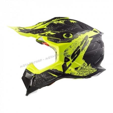 LS2 Casco MX470 Subverter CLAW Matt Black Yellow motocross enduro