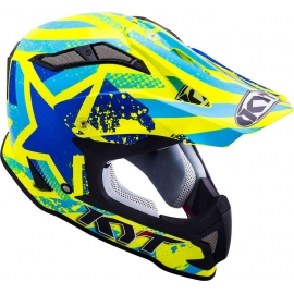 KYT Strike Eagle PATRIOT casco motocross enduro quad