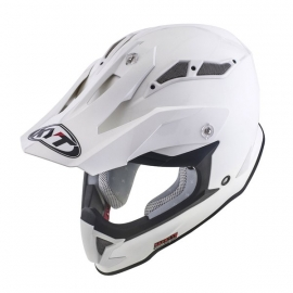 KYT Strike Eagle PLAIN WHITE casco motocross enduro quad