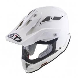 KYT Strike Eagle PLAIN WHITE casco motocross enduro quad
