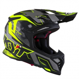 KYT SKYHAWK DIGGER matt black yellow casco motocross enduro quad
