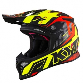 KYT SKYHAWK DIGGER matt yellow orange casco motocross enduro quad