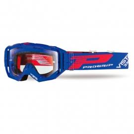 Maschera PROGRIP 3303 VISTA blu lente chiara motocross enduro mtb
