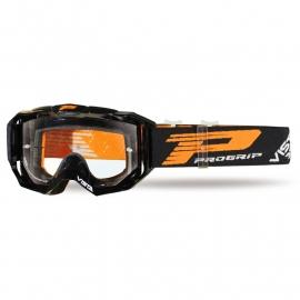 Maschera PROGRIP 3303 VISTA nera lente chiara motocross enduro mtb
