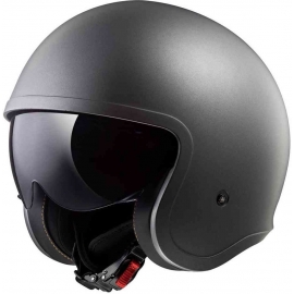 Casco jet LS2 OF599 SPITFIRE SINGLE mono matt titanium Moto Scooter