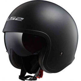 Casco jet LS2 OF599 SPITFIRE SINGLE mono matt black Moto Scooter
