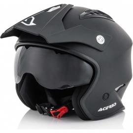 Casco ACERBIS JET ARIA nero moto scooter trial