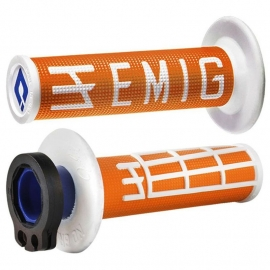 ODI MANOPOLA V2 EMIG LOCK ON ORANGE WHITE motocross enduro quad
