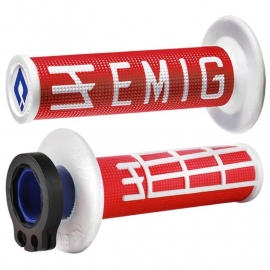 ODI MANOPOLA V2 EMIG LOCK ON red white motocross enduro quad