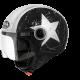 Casco jet Compact Pro Shield Nero opaco Moto Scooter vespa