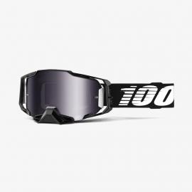 100% ARMEGA black lente specchiata argento maschera Motocross Enduro Mtb Dh