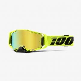 100% ARMEGA NUCLEAR CIRCUS lente specchiata oro maschera Motocross Enduro Mtb Dh