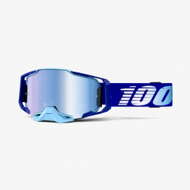 100% ARMEGA ROYAL lente specchiata blu maschera Motocross Enduro Mtb Dh