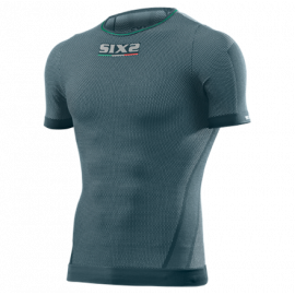 SIXS girocollo manica corta superlight  Carbon Underwear maglietta manica corta petrolio