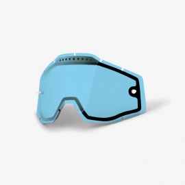 100% RACECRAFT/ACCURI/STRATA LENTE RICAMBIO DOPPIA ventilata blu
