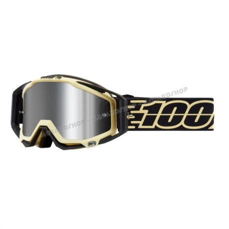100% Racecraft plus (+) Jiva lente specchiata injected flash  maschera Motocross Enduro Mtb