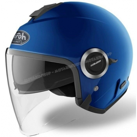 Casco Airoh HELIOS scooter vespa moto blue matt