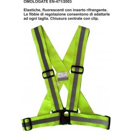 QUATTROERRE BIKE BRACES bretelle elastiche alta visibilità omologate moto scooter