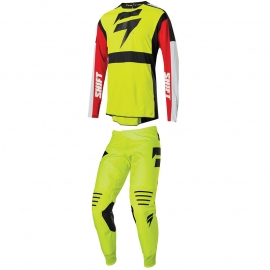 Completo motocross 2020 SHIFT 3LACK LABEL RACE yellow fluo enduro quad