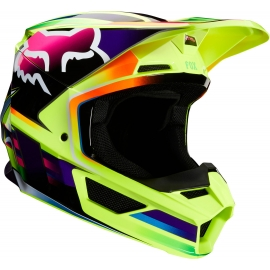 CASCO FOX V1 GAMA yelow motocross, enduro